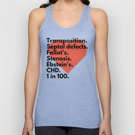 Types of congenital heart defects - for CHD awareness Unisex Tank Top