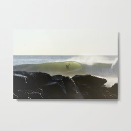 Barreled Surfer Metal Print