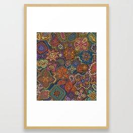 Crewel Jewel Floral by Nettwork2Design Nettie Heron-Middleton Framed Art Print