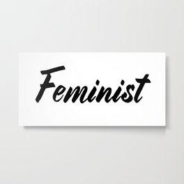 Feminist (on white) Metal Print