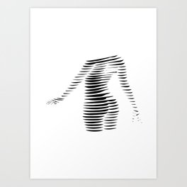 Dancing woman Art Print
