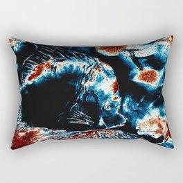 Fish Art In Ink By Annie Zeno  Rectangular Pillow