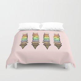 Giant Rainbow Ice Cream Cones Duvet Cover
