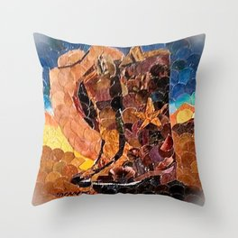 """ Cowboy Sunset "" Throw Pillow"