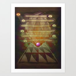 RetroFuture / Evolution-01 Art Print