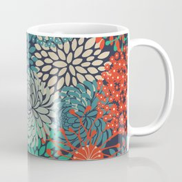 Colorful Flower Garden, Floral Prints Coffee Mug