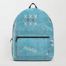 Casablanca Aqua Kilim Backpack