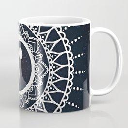 Yin Yang Mandala / White Mandala over stars Coffee Mug