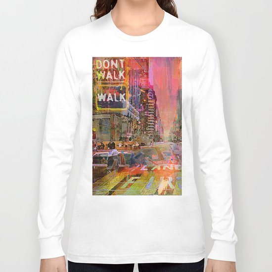 traffic jam pink Long Sleeve T-shirt