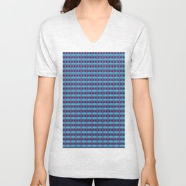 plaid Unisex V-Neck