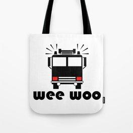 Firetruck Wee Woo Tote Bag