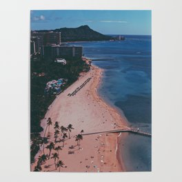 In The Sky Over Hawaii Poster