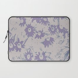 Purple Coneflowers with Grey Background Laptop Sleeve