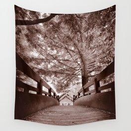 Sepia Bridge Wall Tapestry