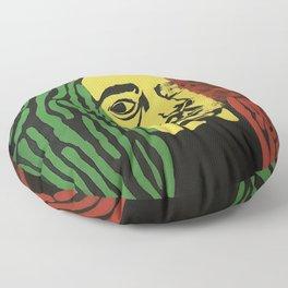 rasta man,vibration,jamaica,reggae,music,smoke,ganja,weed,pop art,portrait,wall mural,wall art,paint Floor Pillow