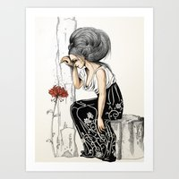 romantic Art Prints featuring Romantic by ValD