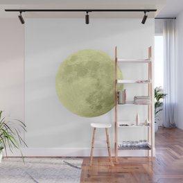 CANARY YELLOW MOON Wall Mural