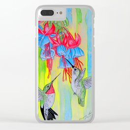 J Humming Bird Clear iPhone Case