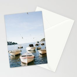 Boats of Hvar | Croatia ocean sea fine art photography print | Wanderlust travel poster Stationery Cards