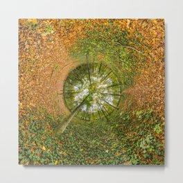 Le bois de Vincennes à l'automne - tunnel planète Metal Print