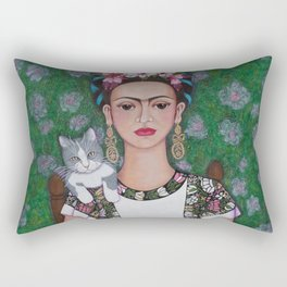 Frida cat lover Rectangular Pillow