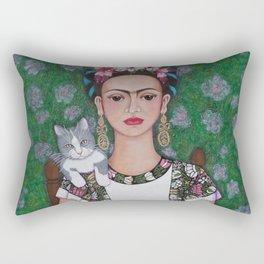 Frida cat lover Rectangular Pillow