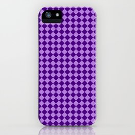 Lavender Violet and Indigo Violet Checkerboard iPhone Case