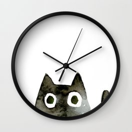 I Love Cats No.13 by Kathy Morton Stanion Wall Clock