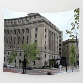 Providence, Rhode Island Masonic Temple Circa 1929 by Jeanpaul Ferro Wall Tapestry
