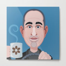 Comics of Comedy: Jerry Seinfeld Metal Print