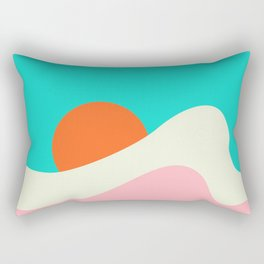 Retro Beach Wave Rectangular Pillow