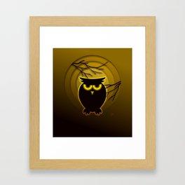 Halloween Owl Framed Art Print