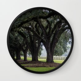 Tree Arch Drive Wall Clock