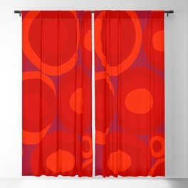 Bubbleroom in red Blackout Curtain