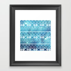Tribal Ice Framed Art Print