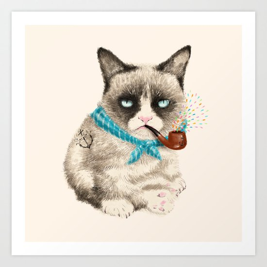 Sailor Cat IV Art Print
