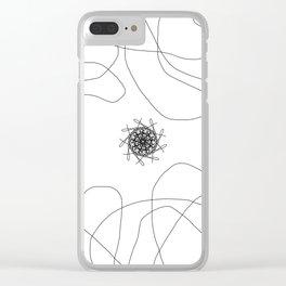 mandalas in maze Clear iPhone Case
