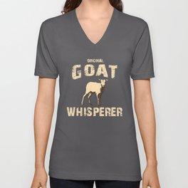 Original Goat Whisperer, Goat Gift, Farm Life Unisex V-Neck