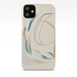 Abstract Lines On Cream. iPhone Case