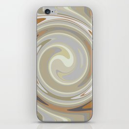 Distorted stripes in colour 3 iPhone Skin