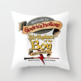 Birthplace of the Boy Who Lived Throw Pillow