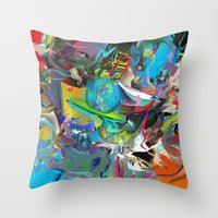archan nair Throw Pillows featuring Microcrystalline Tendrils by Archan Nair
