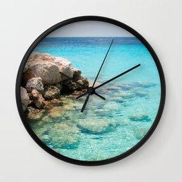Caribbean Ocean Dream #1 #wall #decor #art #society6 Wall Clock