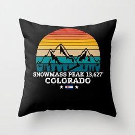 SNOWMASS PEAK Colorado Throw Pillow