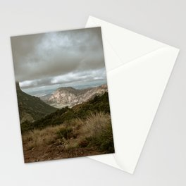 Big Bend Cloudy Mountaintop View - Lost Mine Trail - Landscape Photography Stationery Cards