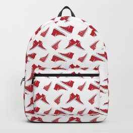Red High Top Shoes Pattern Backpack