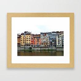 Florence: Arno River Framed Art Print