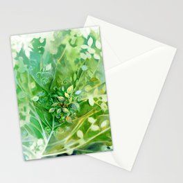 Myst Tree in Green by Laura Zollar Stationery Cards