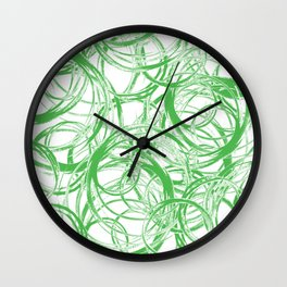 Greenery Orbit Wall Clock