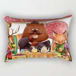 Autumn tea party #3 Rectangular Pillow